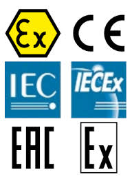 QUALITY ATEX, IECEx and EAC Certificates